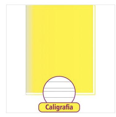 CADERNO CALIGRAFIA AMARELA 48 FOLHAS