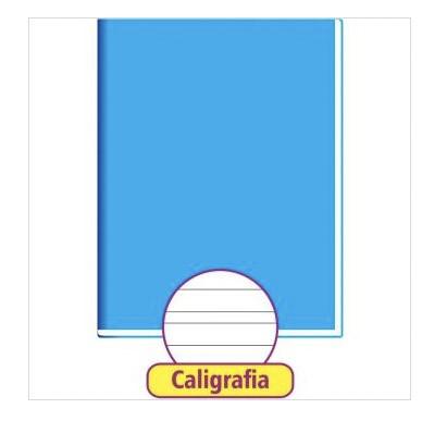 CADERNO CALIGRAFIA AZUL 48 FOLHAS