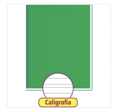 CADERNO CALIGRAFIA VERDE 48 FOLHAS