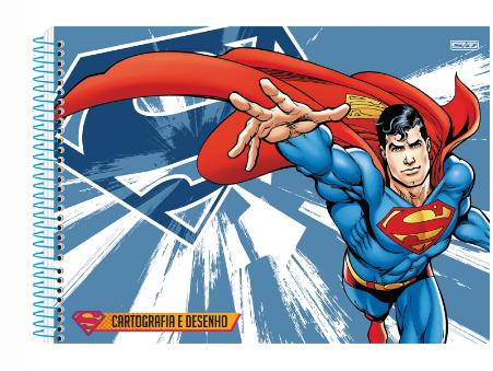 CADERNO CARTOGRAFIA 1/1 60 FOLHAS SUPERMAN