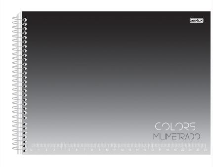 CADERNO CARTOGRAFIA 1/1 CAPA DURA ESPIRAL COLORS