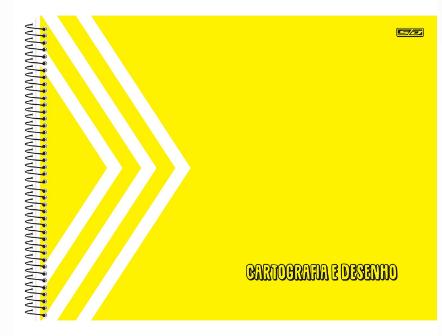 CADERNO CARTOGRAFIA 1/1 KBOM 60 FOLHAS AMARELO