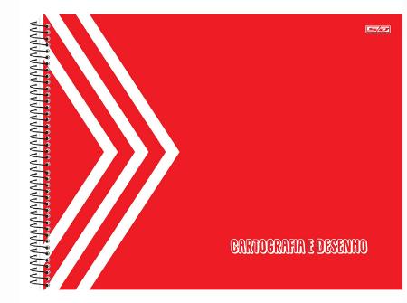 CADERNO CARTOGRAFIA 1/1 KBOM 60 FOLHAS VERMELHO