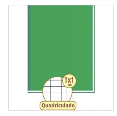 CADERNO QUADRICULADO 1 X 1 VERDE 48 FOLHAS