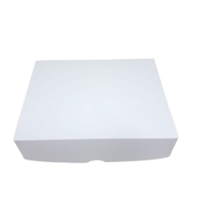 CAIXA DE PAPEL BRANCA (20,3 X 16 X 5CM) COM 15 UNIDADES