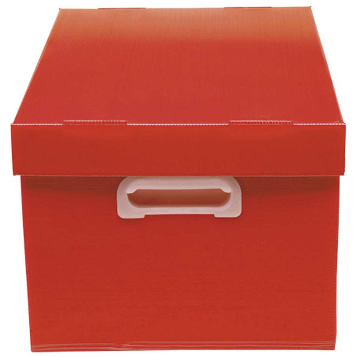 CAIXA ORGANIZADORA THE BEST BOX FOSCA 437 X 310 X 240MM VERMELHA