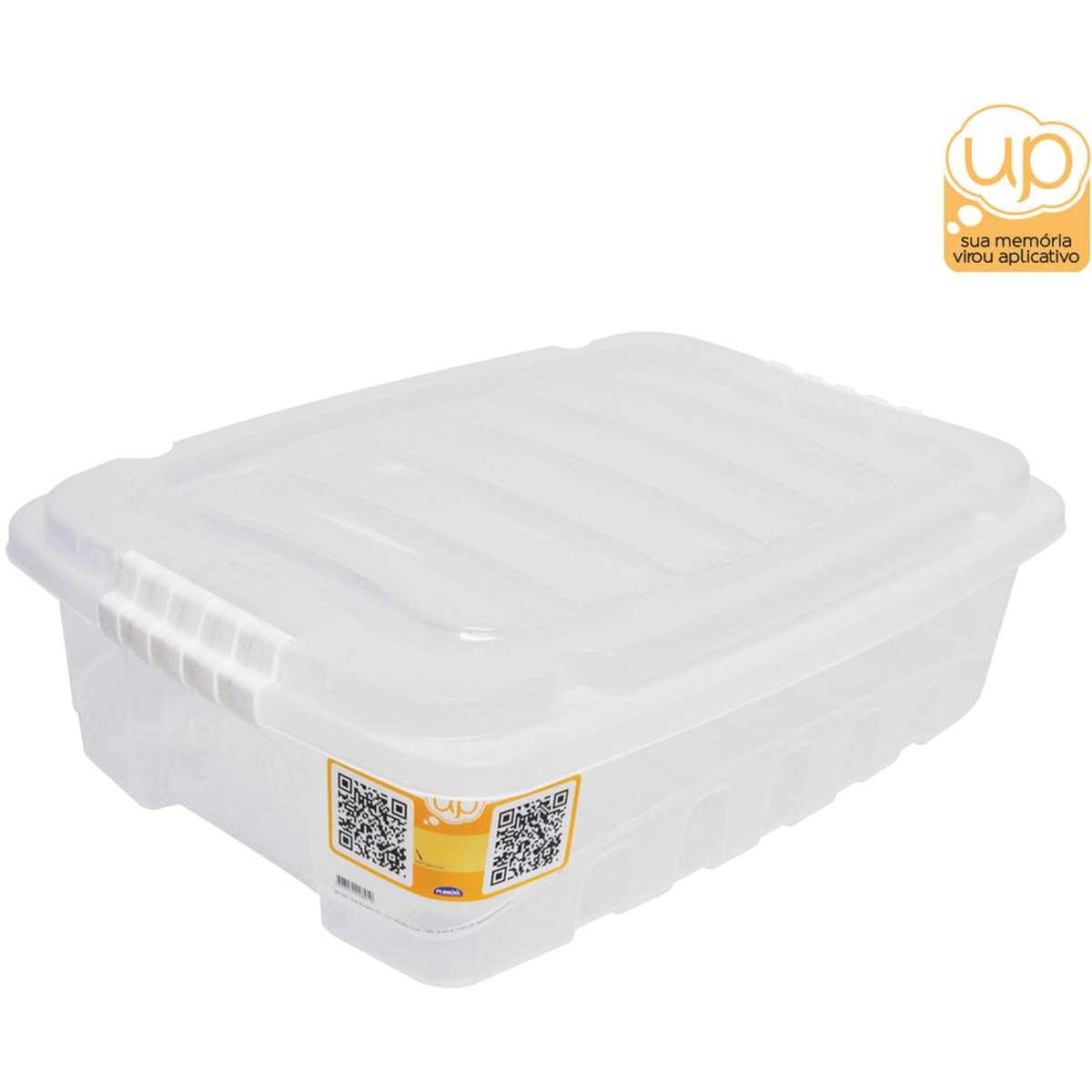 CAIXA PLASTICA MULTIUSO GRAN BOX BAIXA INCOLOR 13,7L