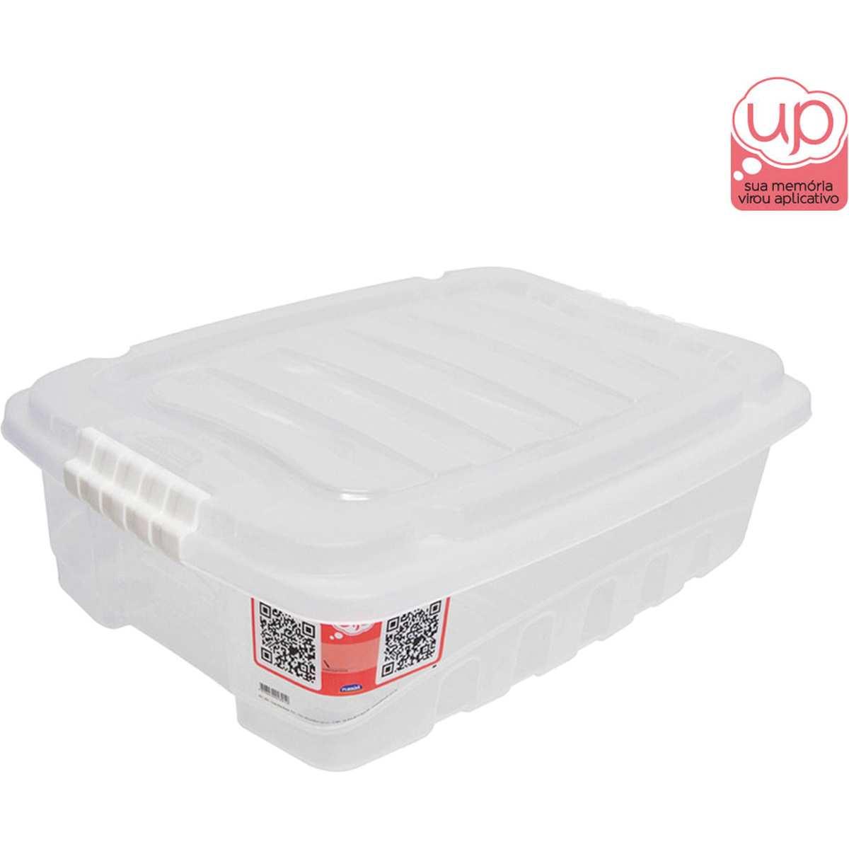 CAIXA PLASTICA MULTIUSO GRAN BOX BAIXA INCOLOR 9,3L