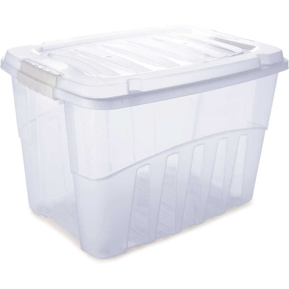 CAIXA PLASTICA MULTIUSO GRAND BOX ALTA INCOLOR 78L
