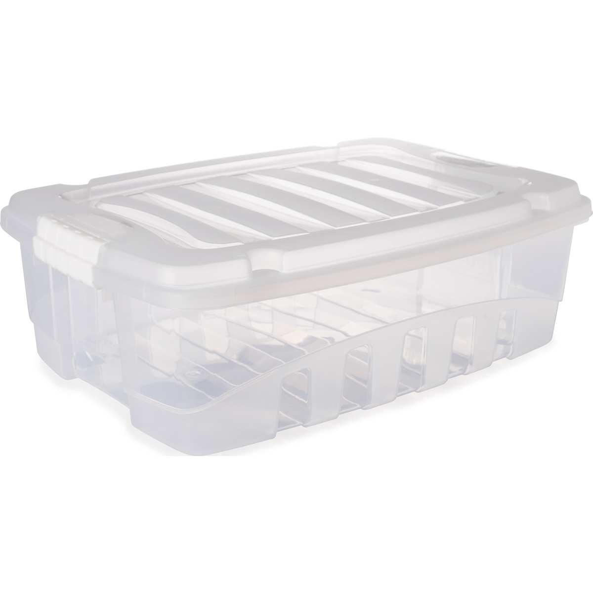 CAIXA PLASTICA MULTIUSO GRAND BOX BAIXA INCOLOR 26,5L