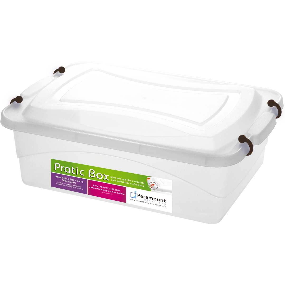 CAIXA PLASTICA MULTIUSO PRATIC BOX 10L 41X29X14CM