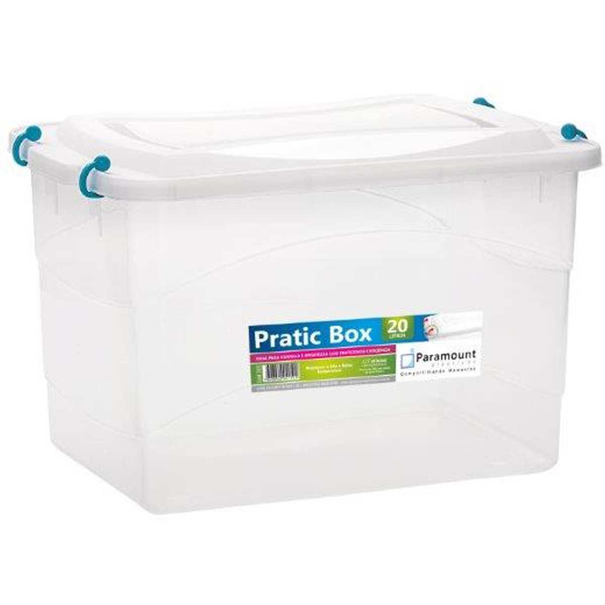 CAIXA PLASTICA MULTIUSO PRATIC BOX 20L 41X29X25CM