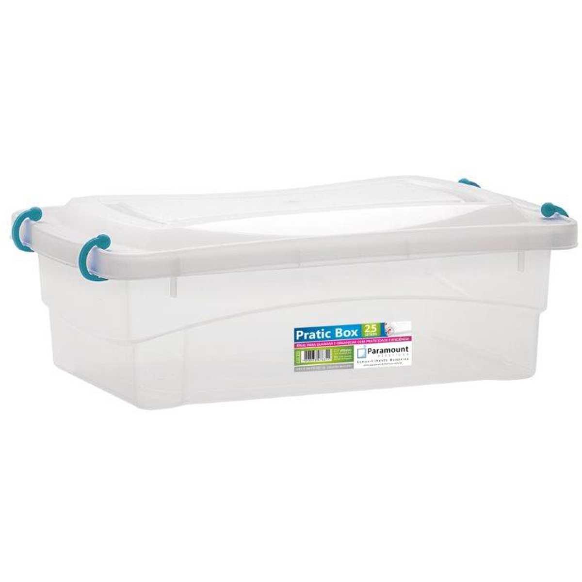 CAIXA PLASTICA MULTIUSO PRATIC BOX 2,5L 27X18,5X9CM