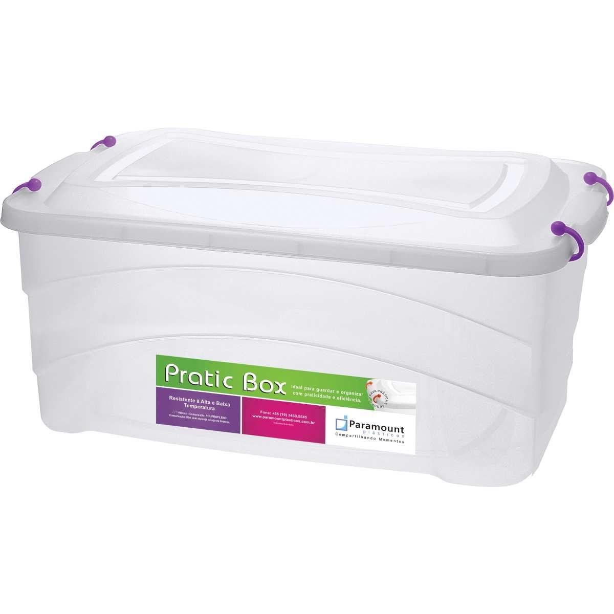 CAIXA PLASTICA MULTIUSO PRATIC BOX 50L 59X38X34CM