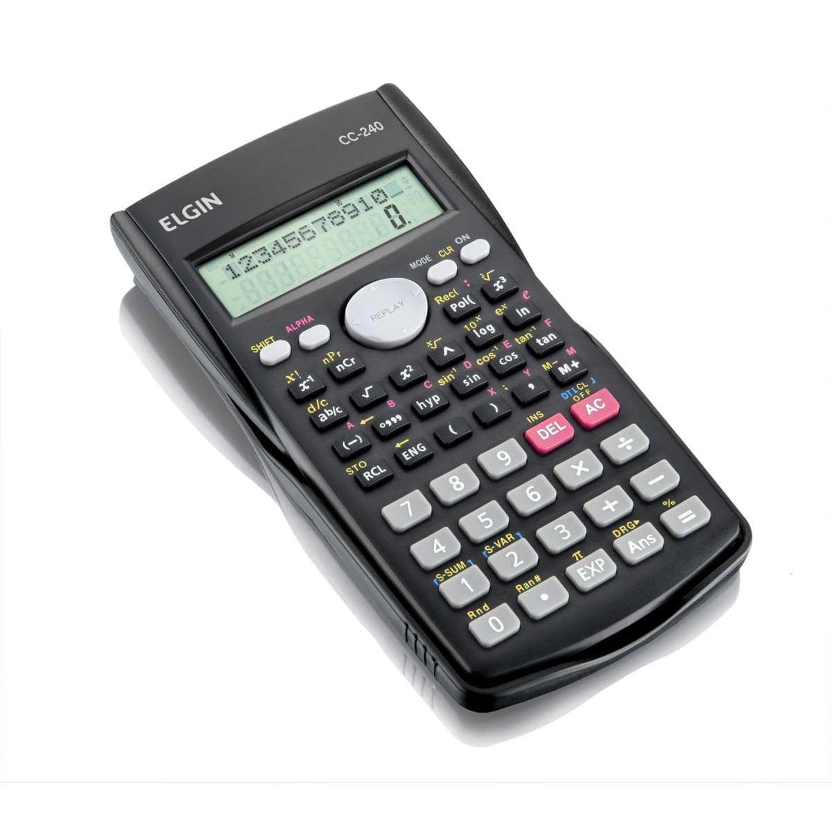 Calculadora Cientifica - 240 Funcoes 12 Digitos Visor 2 Linha - Elgin
