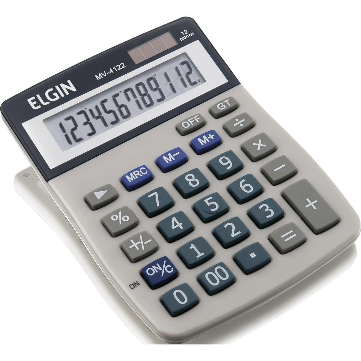 Calculadora de Mesa - 12 Digito Visor LCD Solar/Bat.G10 - Elgin