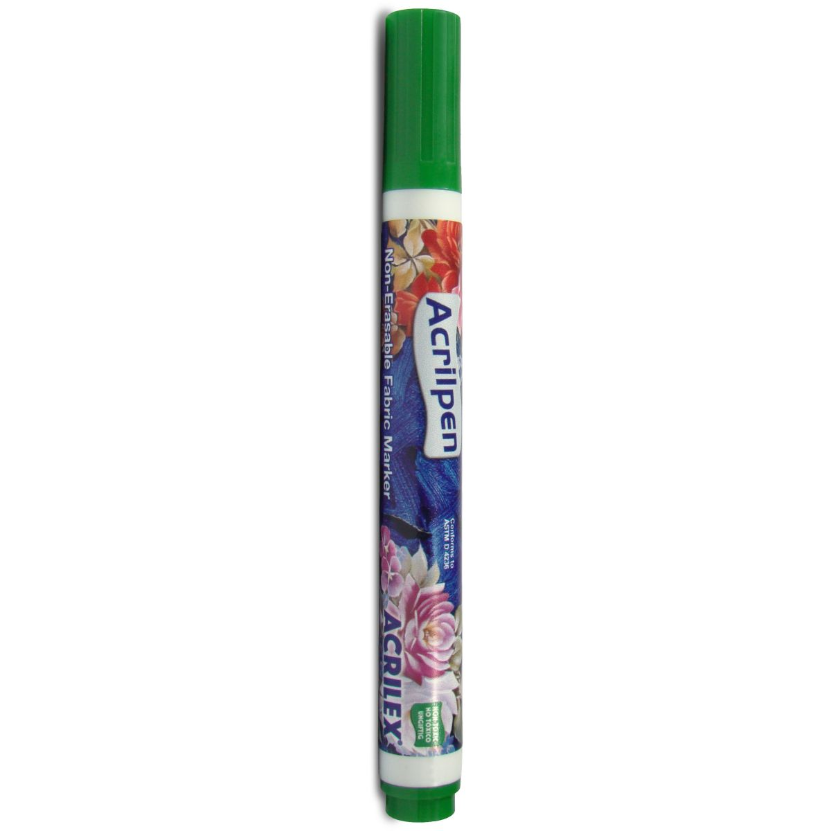 Caneta para Tecido - Verde Musgo Acrilpen Cx. c/12 - Acrilex