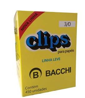CLIPS GALVANIZADO ACO 3/0 LINHA LEVE CAIXA COM 450 UNIDADES