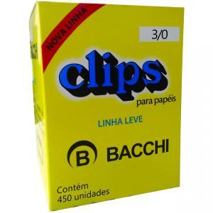 Clips Galvanizado Aco 3/0 Linha Leve Cx.c/450 - Bacchi