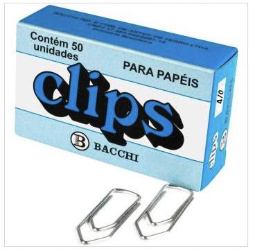 CLIPS GALVANIZADO ACO 4/0 CAIXA COM 50 UNIDADES