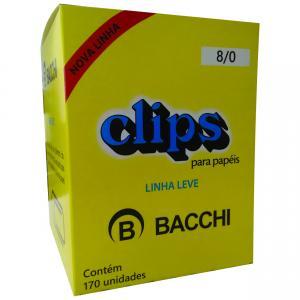 Clips Galvanizado Aco 8/0 Linha Leve Cx.c/170 - Bacchi
