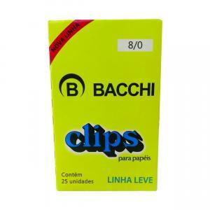 Clips Galvanizado Aco 8/0 Linha Leve Cx.c/25 - Bacchi
