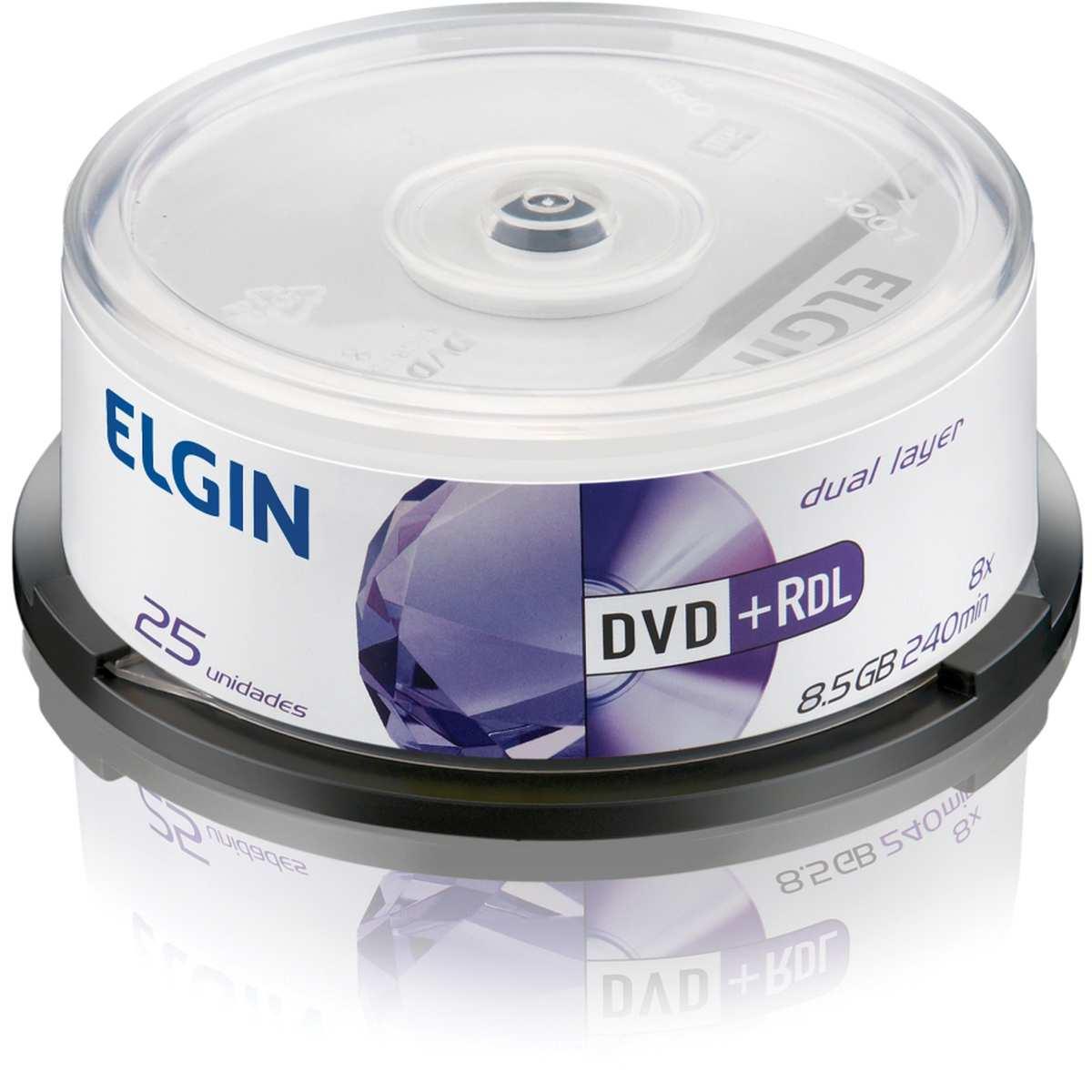 Dvd Gravavel Dual Layer   DVD+R 8,5   240Min   8x   Elgin