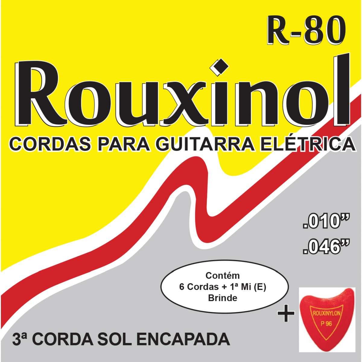 Encordoamento - P/Guitarra Eletrica Leve 10/46 - Rouxinol