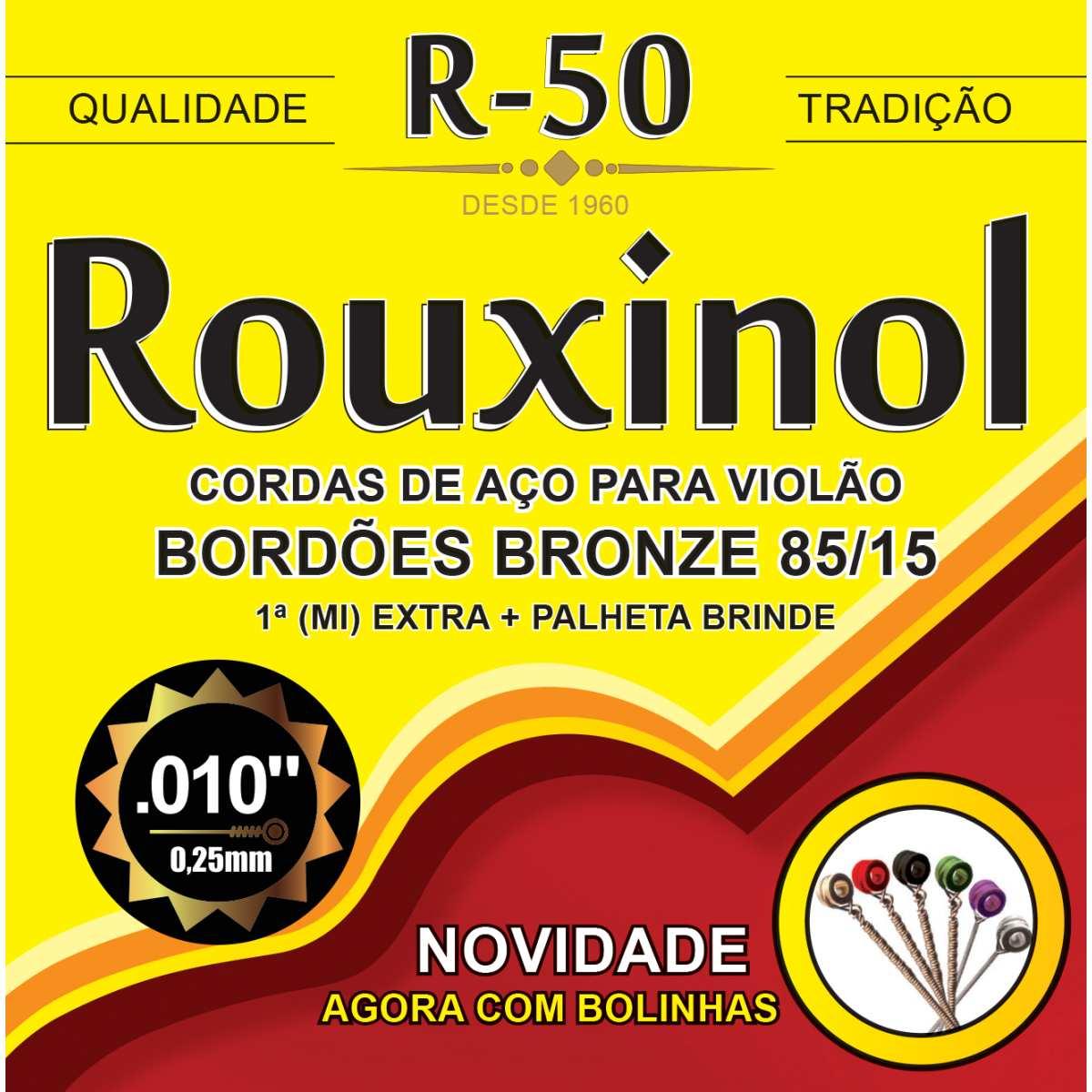 Encordoamento - P/Violao Aco Bronze 85/15 C/Bo - Rouxinol