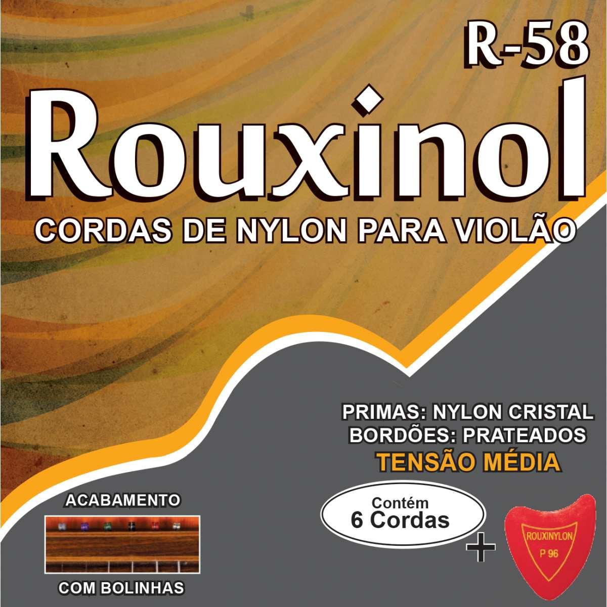 Encordoamento - P/Violao Nylon CR/Prat.C/Bolin - Rouxinol