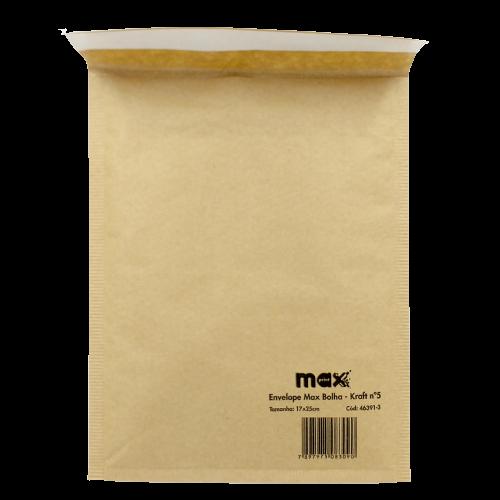 ENVELOPE MAX BOLHA KRAFT 17 X 25