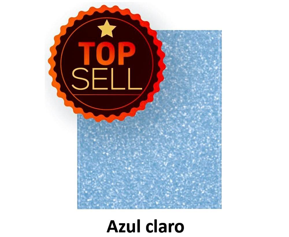 EVA COM GLITTER AZUL CLARO 40CM x 60CM