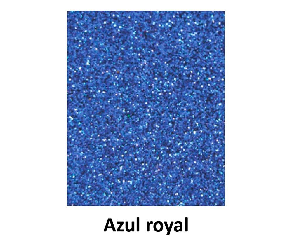 EVA COM GLITTER AZUL ROYAL 40CM x 60CM
