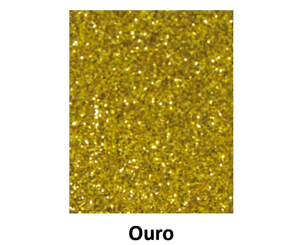 EVA COM GLITTER OURO 40CM x 60CM