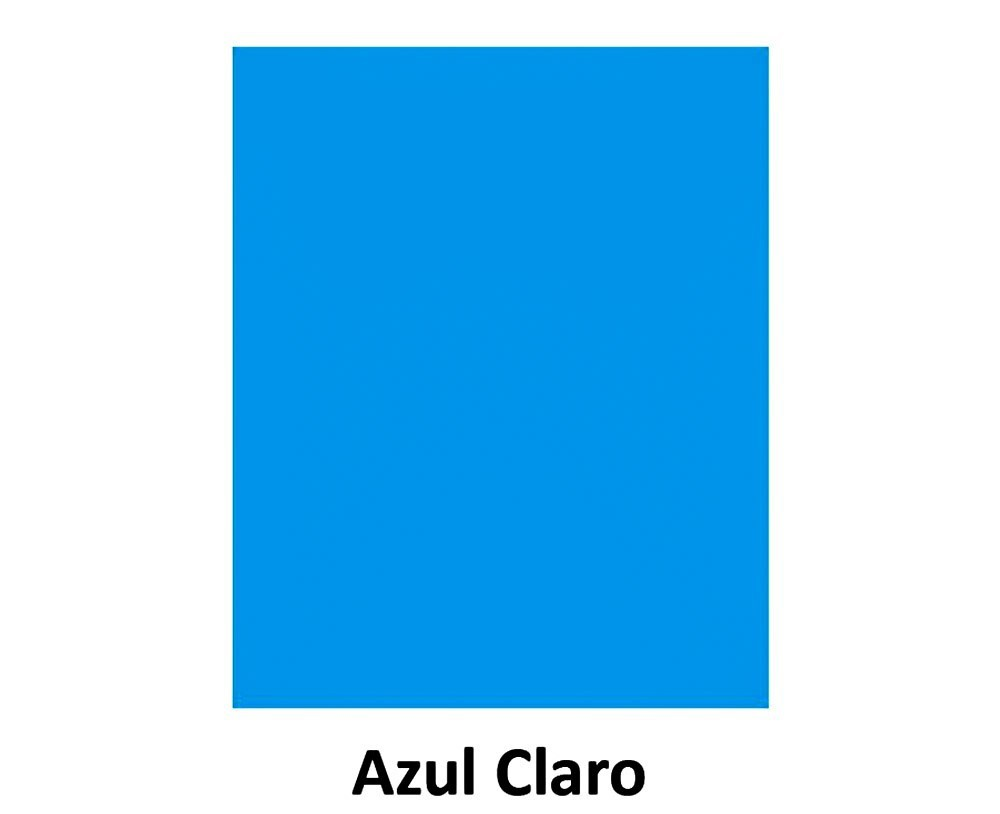 EVA Liso - 40cm x 60cm Azul Claro Pct.c/10 - Leo & Leo