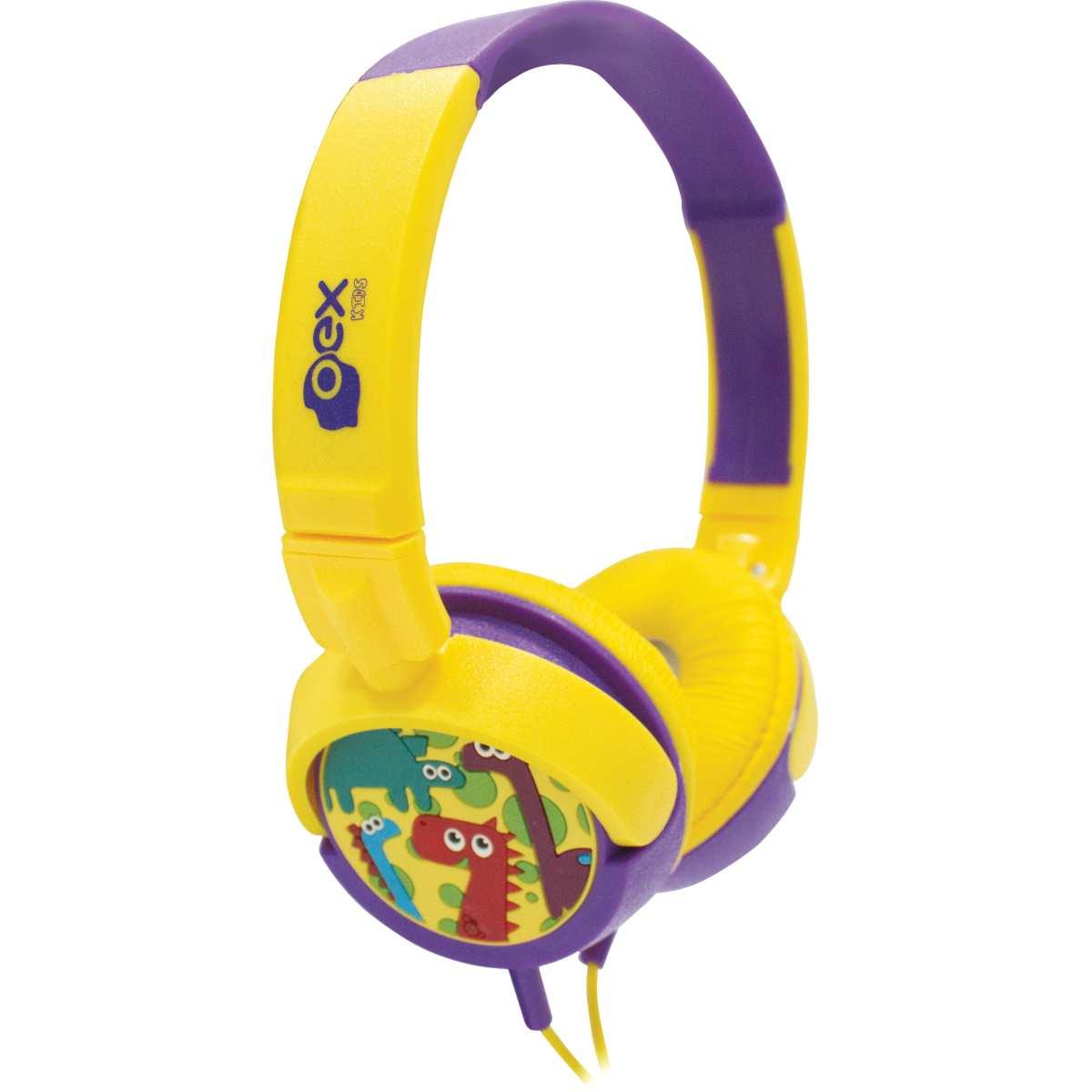 Fone de Ouvido - DINO Infantil 15W CABO 1,2M - Newex