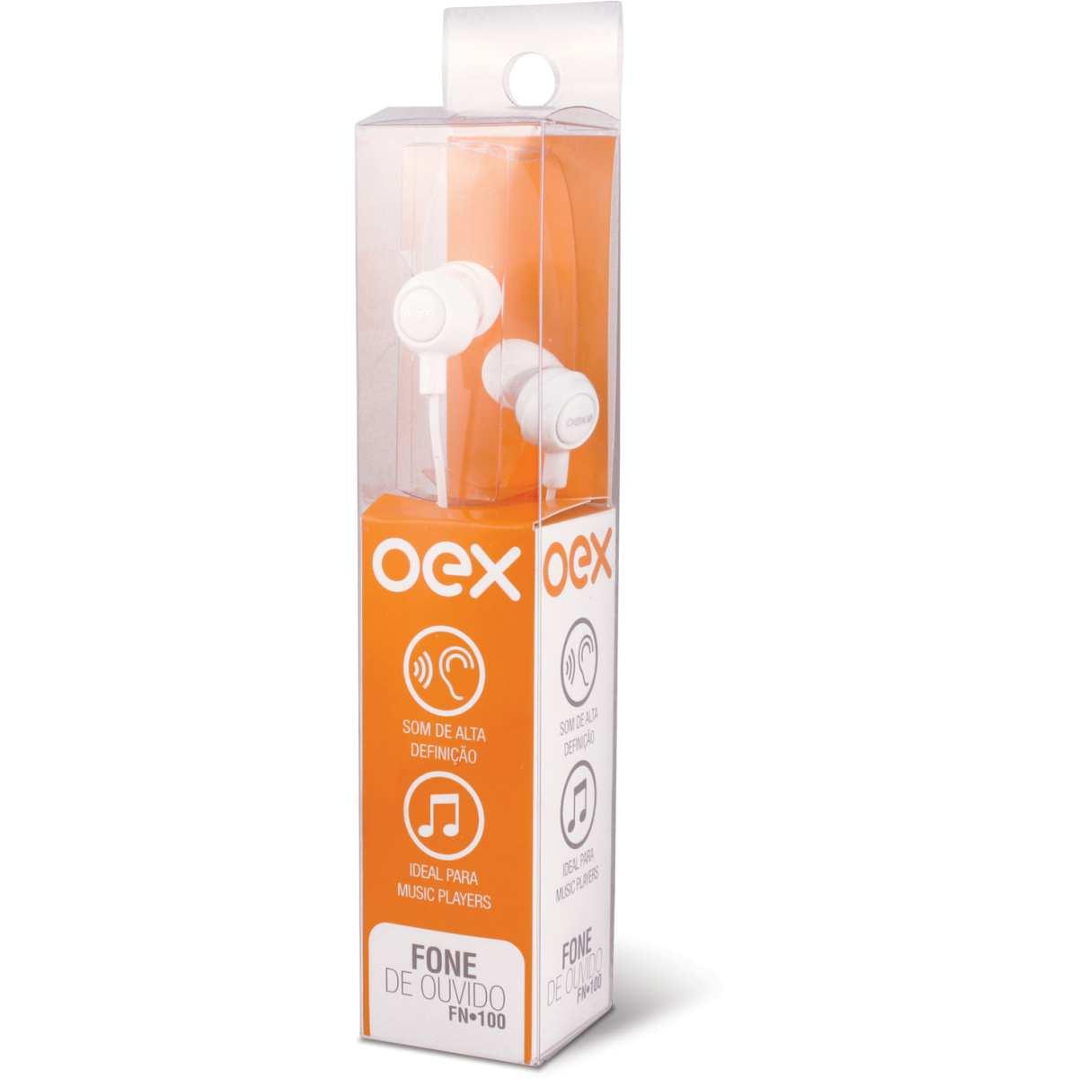 Fone de Ouvido - Intra Auricular Branco - Newex