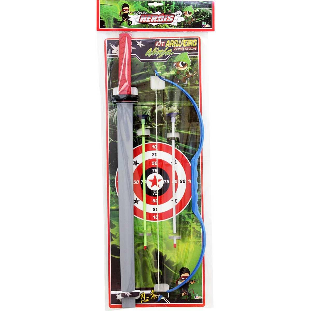 Lancador | Kit Arqueiro c/Espada 65cm | Leplastic