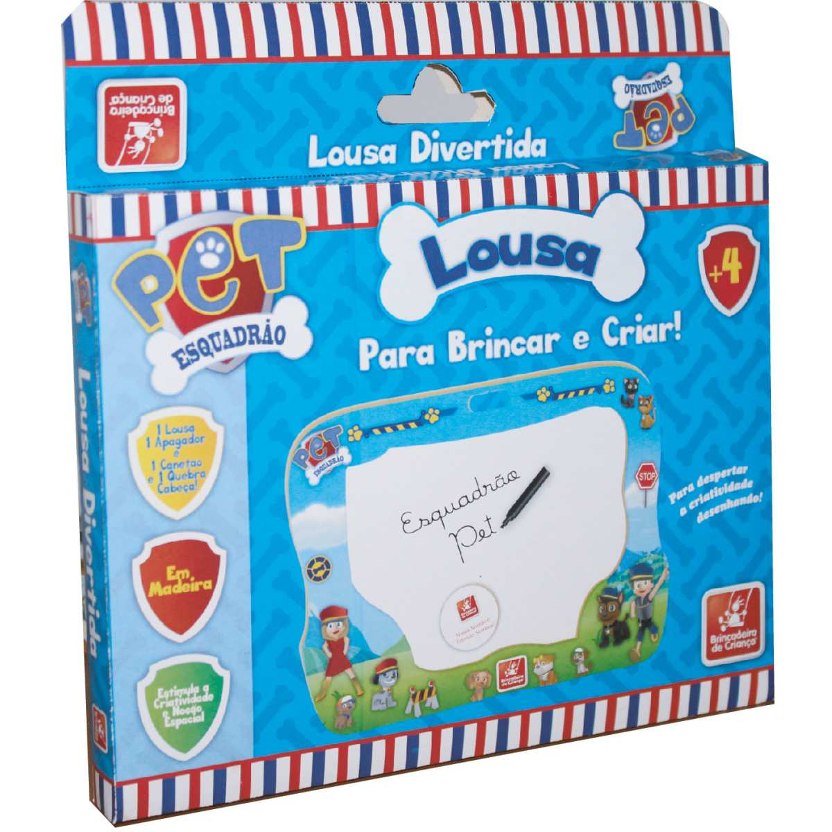 Lousa Infantil | Esquadro Pet C/Q.Cabeca | Brinc. de Crianca