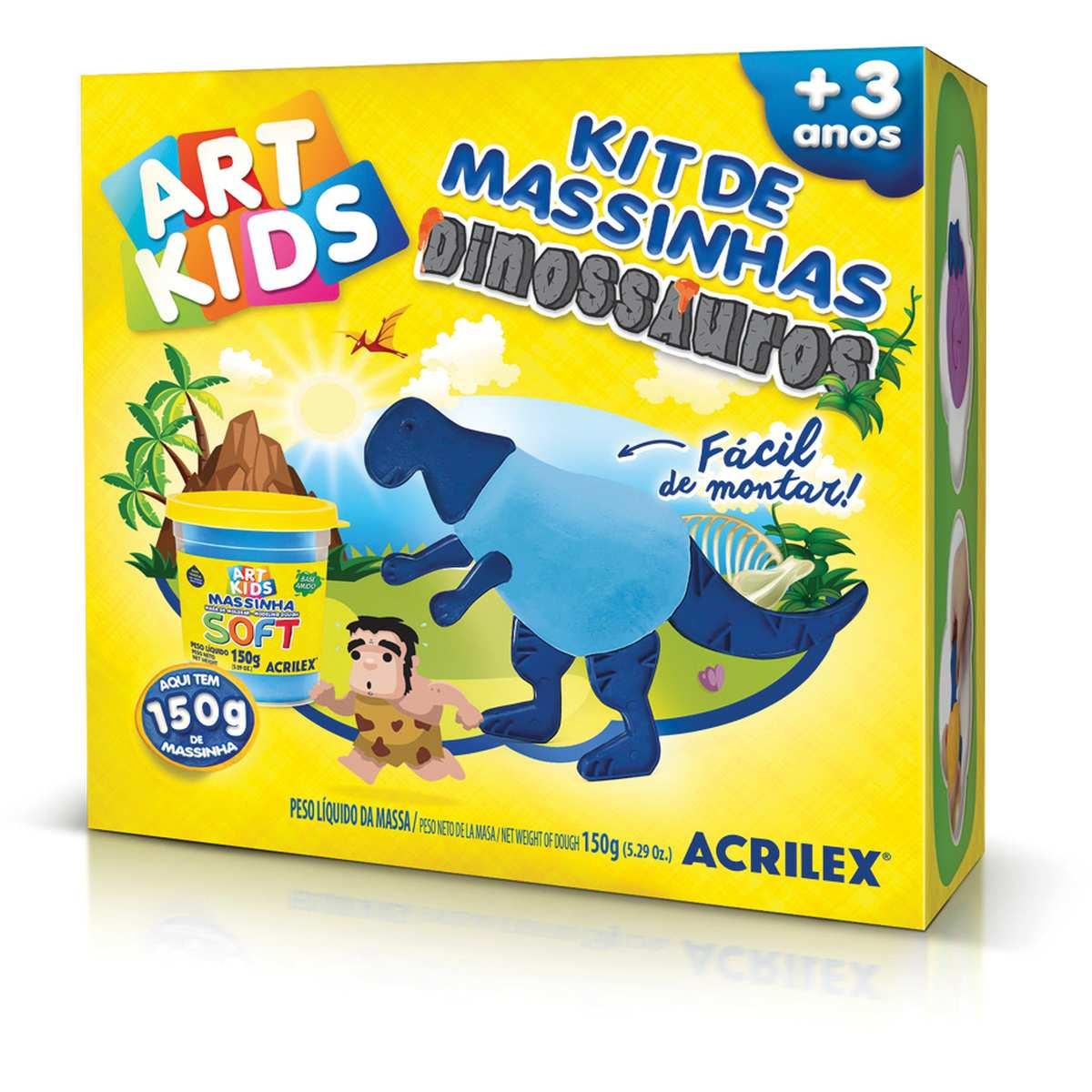 Massa p/Modelar   Criativa Art Kids Dinossauro 2 Azul - Acrilex