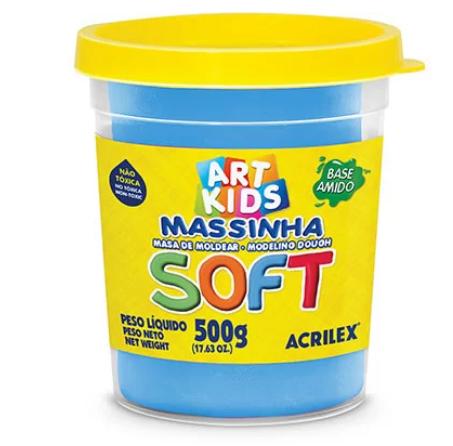MASSINHA DE MODELAR SOFT AZUL