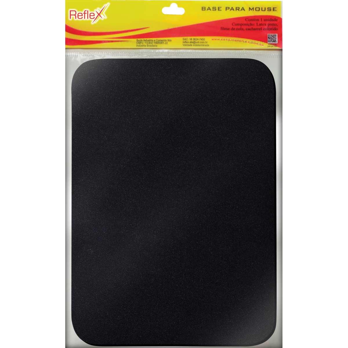 Mouse Pad - Tecido Preto Emborrachado - Reflex