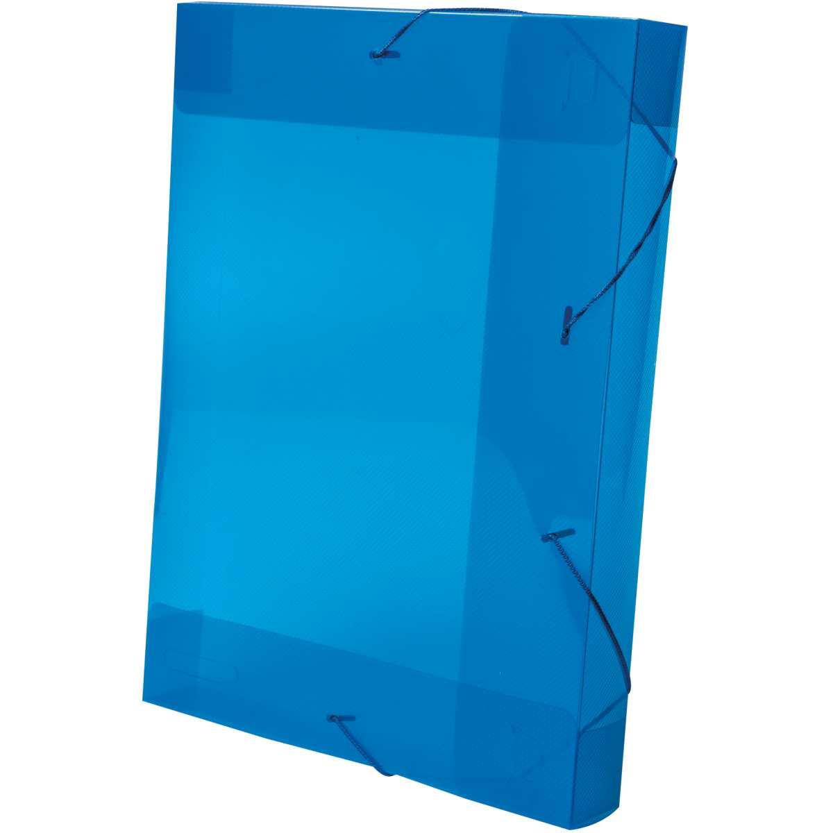 PASTA ABA ELASTICA PLASTICA OFICIO 5,5CM AZUL DELLOLINE COM 10 UNIDADES