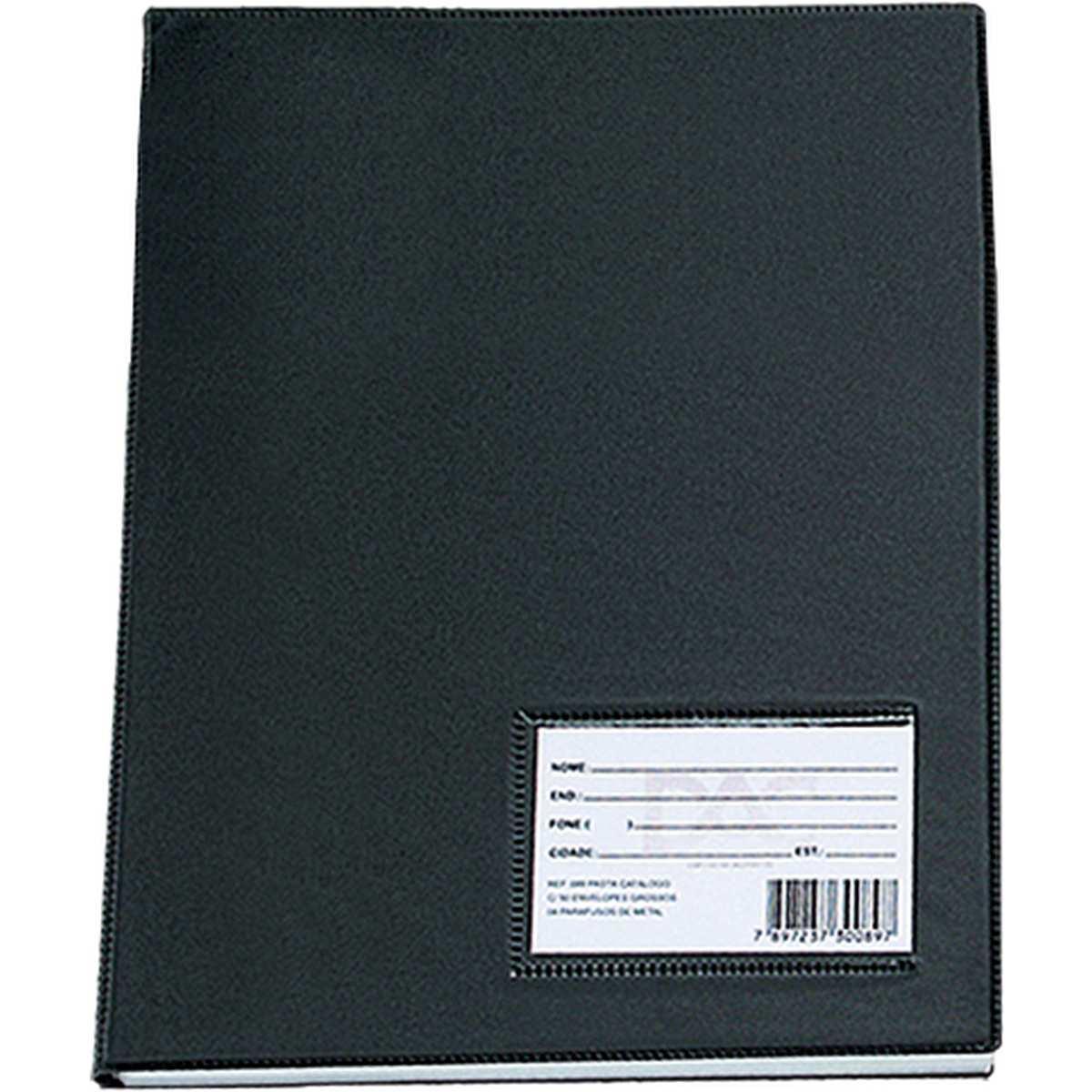 Pasta Catalogo - A3 c/30 Envelopes Medios Preta Pct.c/2 - Dac