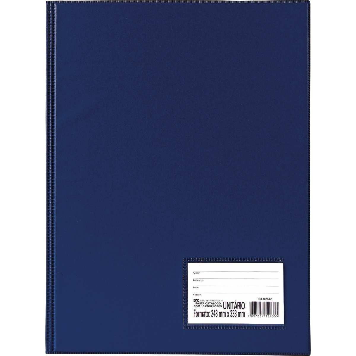 Pasta Catalogo - Oficio c/10 Env. Finos Azul Cx.c/08 - Dac