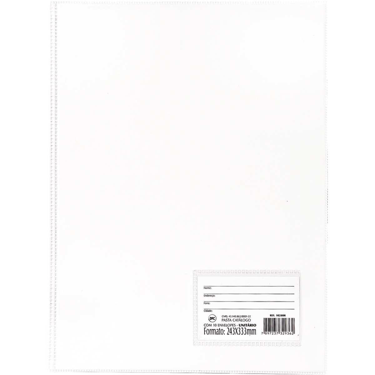 Pasta Catalogo - Oficio c/50 Envelopes Finos Branca - Dac