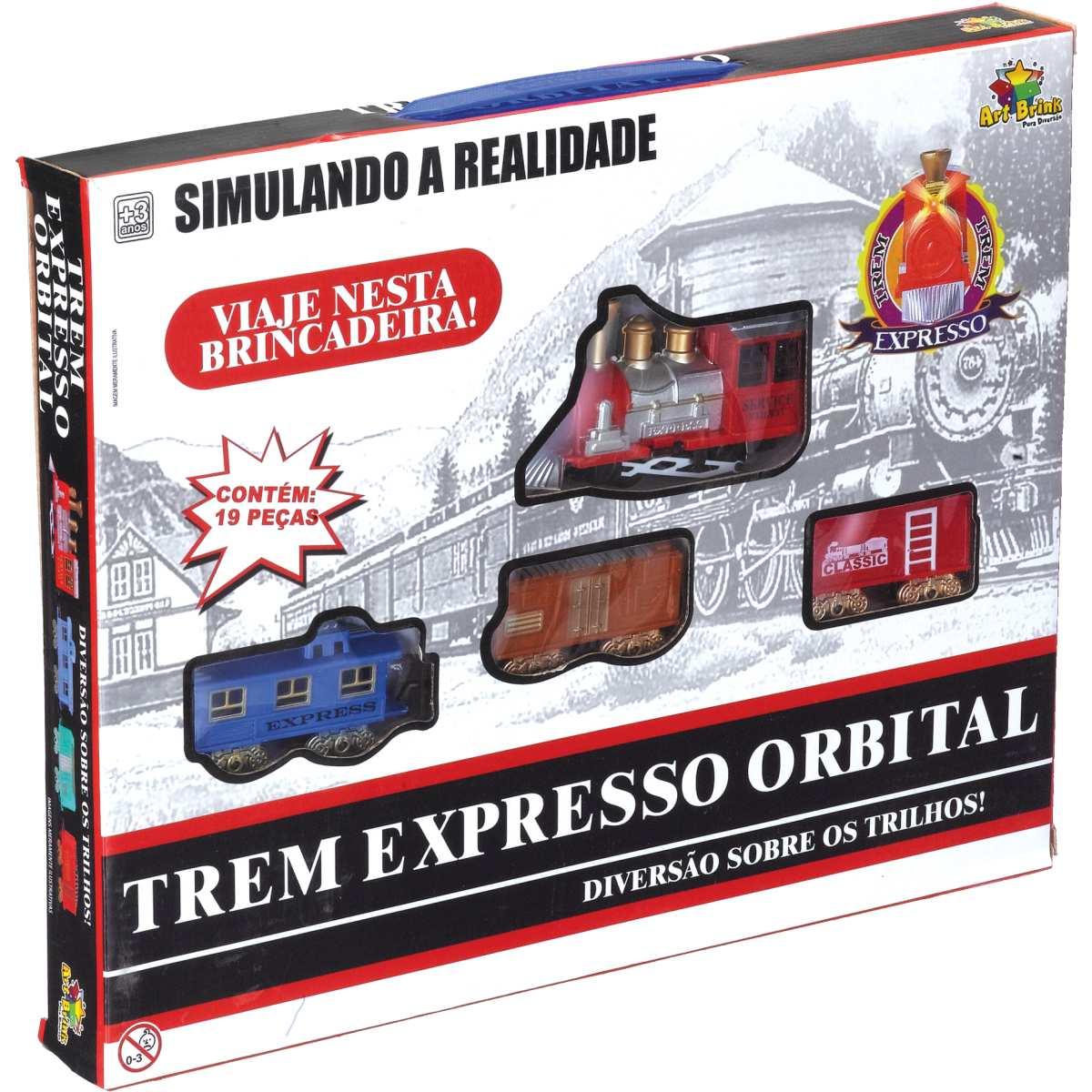 Pista - Trem Expresso Orbital 90cm - Art Brink