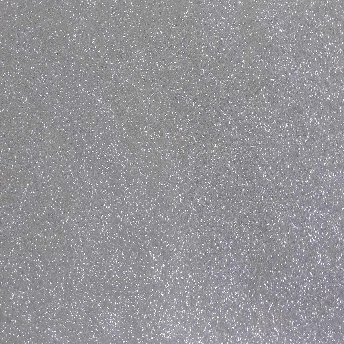 Placa em EVA com Gliter   60x40cm Prata 2mm Pct.c/05 - Dubflex