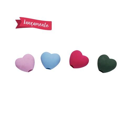 Ponteira Borracha Coracao Love Heart   Molin