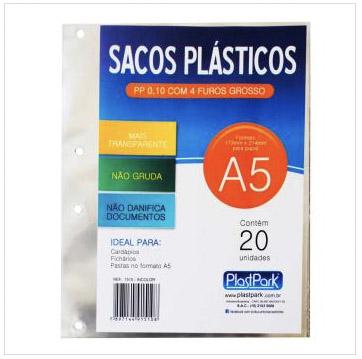 SACOS PLASTICOS A5 4FUROS